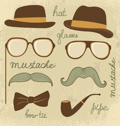 Mustache party vector image vector image