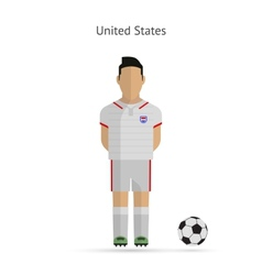National football player united states soccer team vector