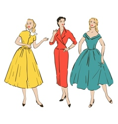 Pin up girls vector
