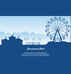 Scenery amusement park style background vector