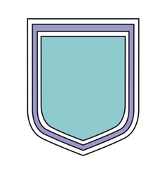 shield icon in color section silhouette vector image