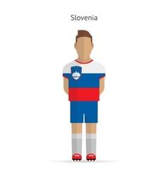 Slovenia football player soccer uniform vector