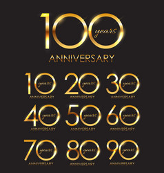 template set of anniversary vector image vector image