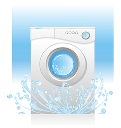 white washing machin vector image vector image