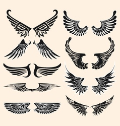 wings tattoo vector image vector image