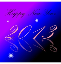 2013 Happy New Year background vector image