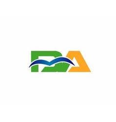 Da company linked letter logo vector