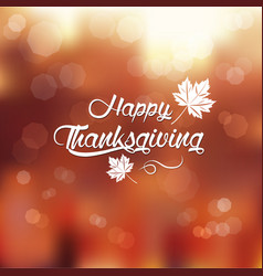 Typography happy thanksgiving vector