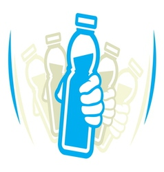 Shake bottle vector