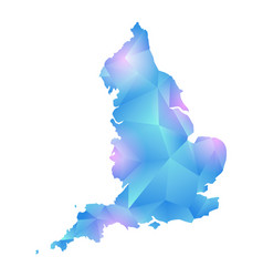 Map of england polygon vector