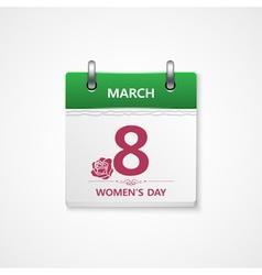 8 march calendar vector image