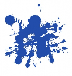 Blue paint splat vector