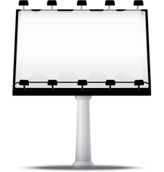 Blank street advertising billboard vector
