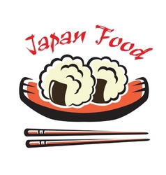 Japanese seafood vector image