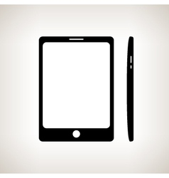 Silhouette phone on a light background vector