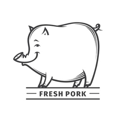 Fresh pork vector