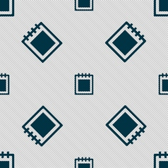 Notepad icon sign seamless pattern with geometric vector