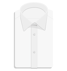 White folded shirt vector