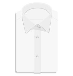 White folded shirt vector image