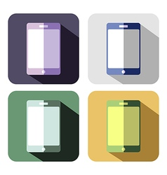 Set of colorful icons of smart phone vector