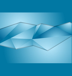 abstract blue corporate polygonal background vector image vector image