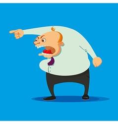 angry boss swearing vector image