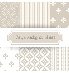 Beige background set vector