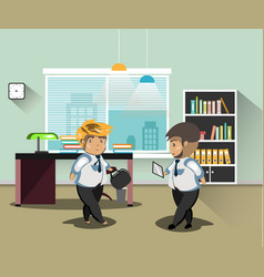 Businessmans in office vector