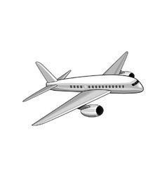 commercial jet plane airliner vector image