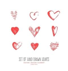Design elements for Valentine day vector image
