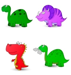 dino set icon 1 vector image