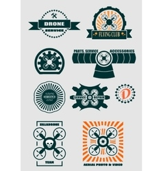 Drone emblems set vector image vector image