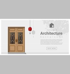 Elements of architecture front door background 5 vector image