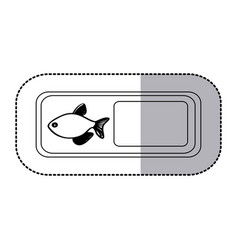 figure emblem fish icon vector image