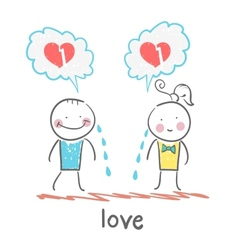 girl and guy cry thinking about lost love vector image