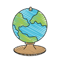 Globe icon image vector