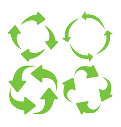 green square recycle vector image vector image