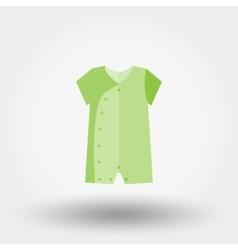 Infant bodysuit icon vector