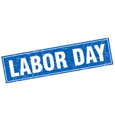 Labor day square stamp vector