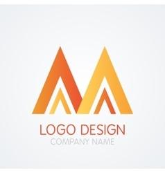 logo design letter M vector image