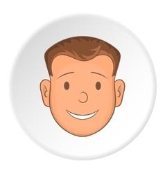 Male face icon cartoon style vector
