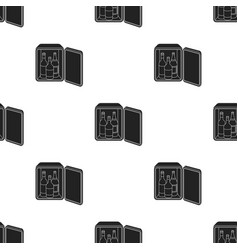 Mini-bar icon in black style isolated on white vector