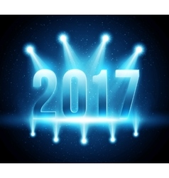 New Year 2017 festive party background vector image