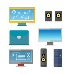 Set of Computer Peripherals vector image vector image