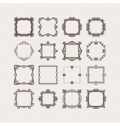 Set of ornate mandala borders and frames vector