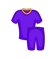 Football uniforms icon cartoon style vector