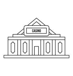 Casino icon outline style vector