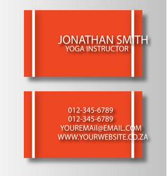Business card 2 vector