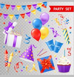 Party transparent set vector