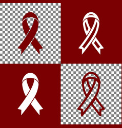 Black awareness ribbon sign bordo and vector